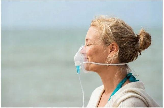 Tlen inhalacyjny w puszce + maska, 15L tlenu 99,5%