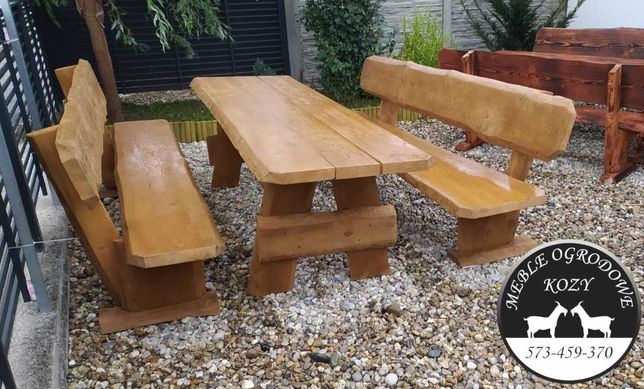 Meble ogrodowe lite drewno, meble drewniane porządne, producent