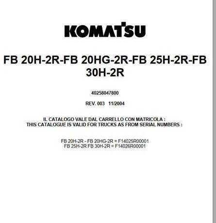Katalog części kamastu FB20H-2R-FB