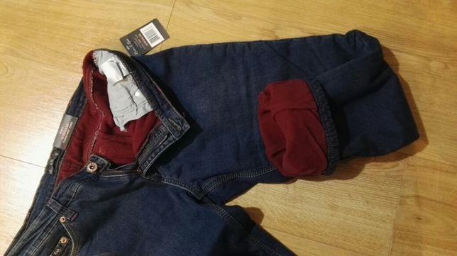 jeansy ocieplane