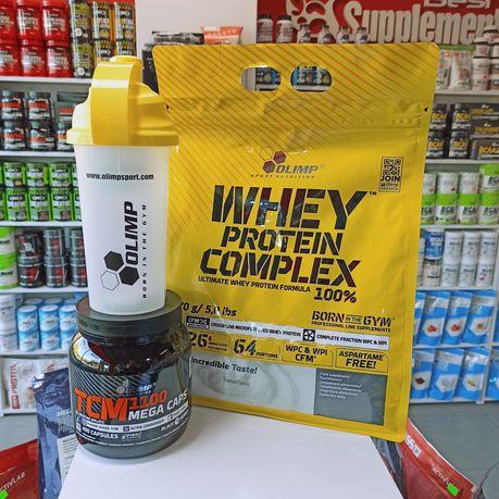 Zestaw Olimp Whey Protein Complex + TCM 400kaps, Białko i Kreatyna