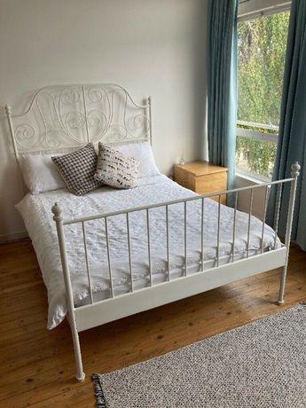 Łóżko LEIRVIK z Ikea 160x200cm + materac