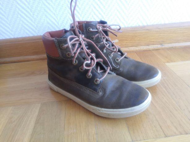 Timberland roz. 32 (19,5 cm) Skórzane buty na suwak