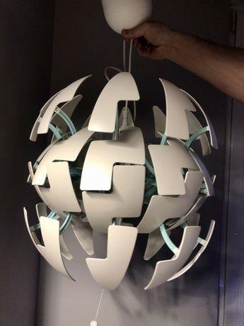 Lampa IKEA PS 2014 rozkładana kula turkusowa biała stan bdb !