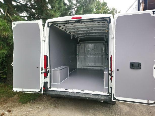 Zabudowa samochodu dostawczego Peugeot Boxer L3H2 i innych modeli