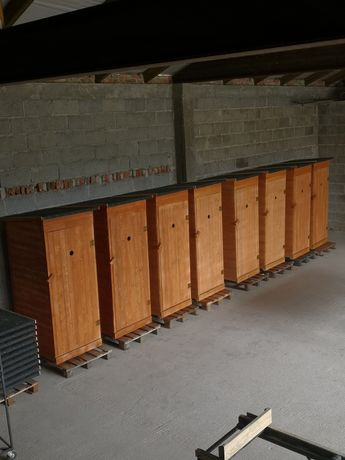 Toaleta Drewniana HEBLOWANA WC Wychodek Ustęp Szalet Promocja Kibel