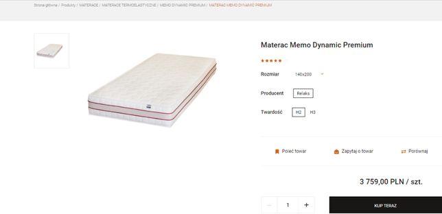 Materac 140x200 Selene Memo Dynamic premium H2