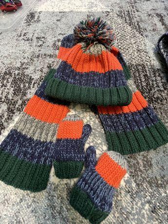 Детская шапка, шарф и рукавички next