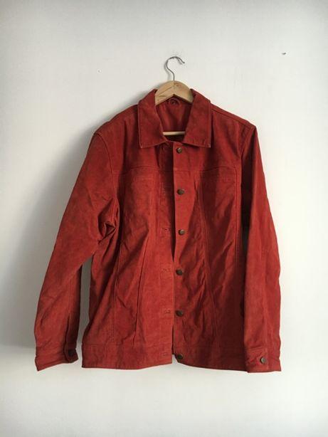Skórzana czerwona kurteczka vintage