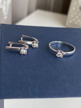 Золотой набор Zarina с бриллиантами