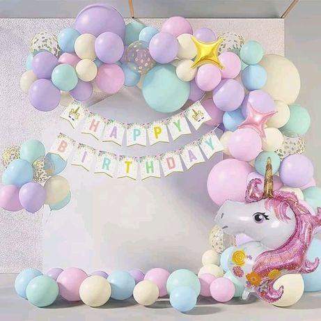 Balões para festa de aniversário - Unicórnio