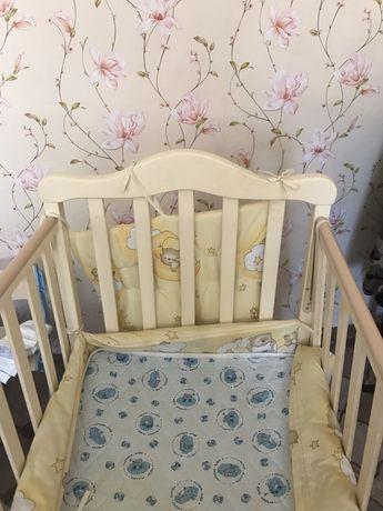 Продам манеж кроватку Соня Верес, балдахин и защиту и постельное