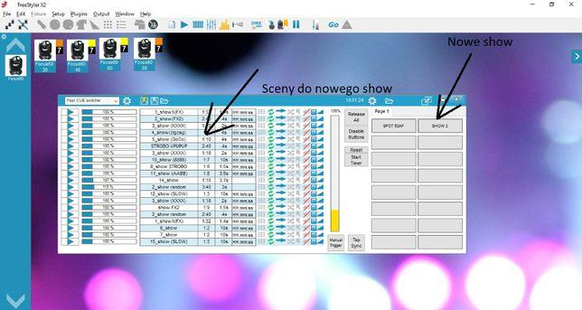 Zestaw dodatkowych SCEN SHOW dla 4xLight4me Pryzma AF FILM