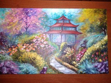 """Продам свою картину """"Японский сад"""""""