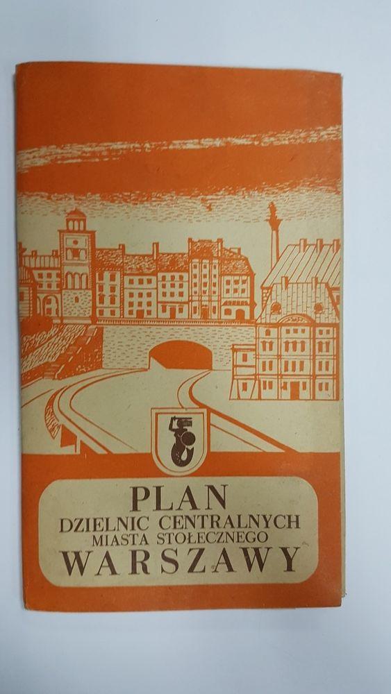 Plan dzielnic centralnych miasta stołecznego warszawy 1955 Warszawa - image 1