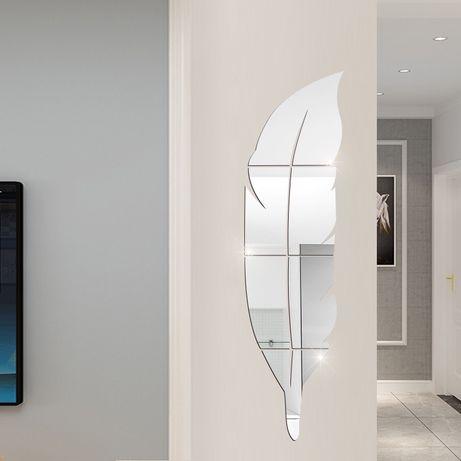 Lustro Feather - piórko, naklejki ścienne z efektem lustra