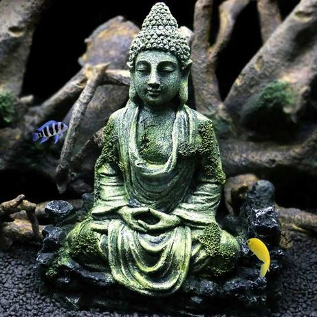 1szt Buddha Statue Aquarium Ornament - ozdoba do akwarium