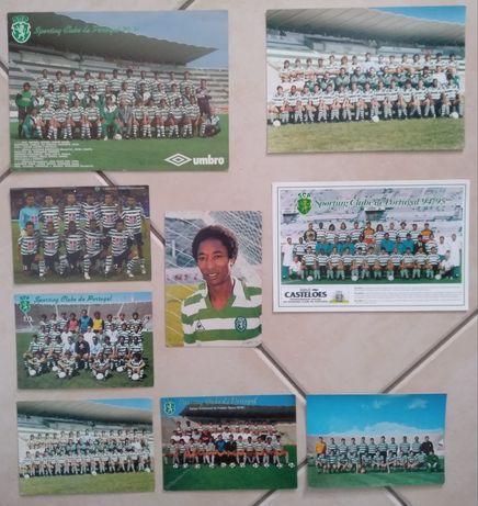 Lote de postais antigos do Sporting Clube de Portugal