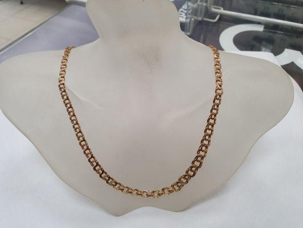 Piękny złoty łańcuszek damski/ 750/ 12.9 gram/ 42cm/ sklep Gdynia