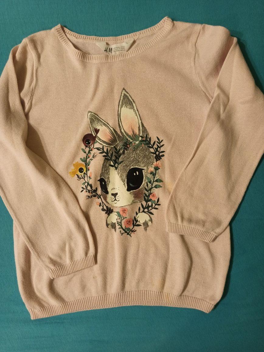 Sweterek dla dziewczynki H&M 110/116