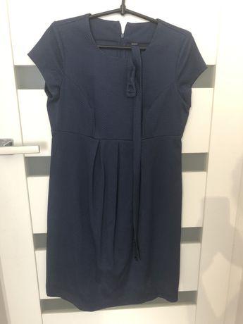 Sukienka ciążowa z dzianiny, z paksiem