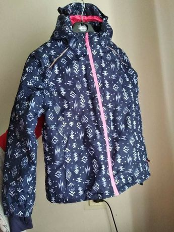 Лижна куртка з капішоном для дівчинки 146/152 см.