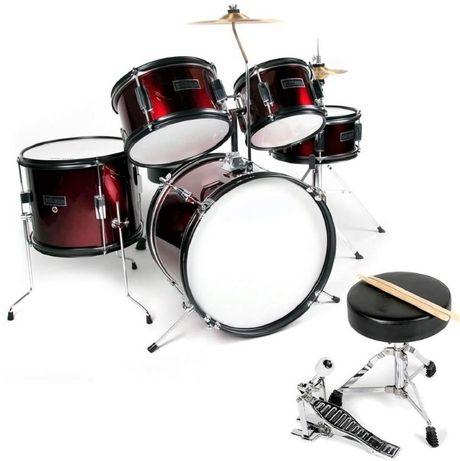 perkusja dla dziecka Ever Play Black Tiger Junior + stołek + talerze