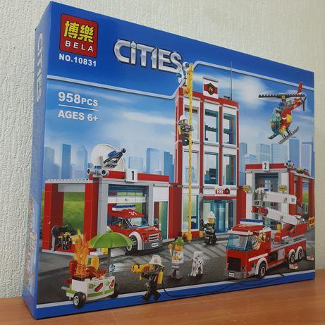 Лего Пожарная станция Конструктор Пожарная часть Bela Cities 10831