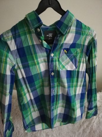 koszula 140 146 kratka niebieska, bluza 140 146