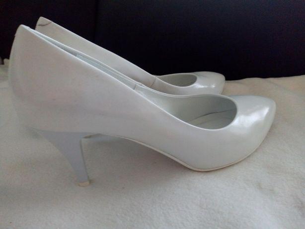 Buty ślubne, białe, Kotyl, szpilki, rozmiar 41, do ślubu