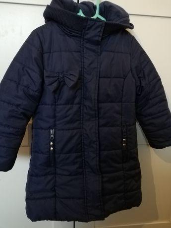 Kurtka/płaszcz na futerku na zimę 5 10 15 r. 104/110
