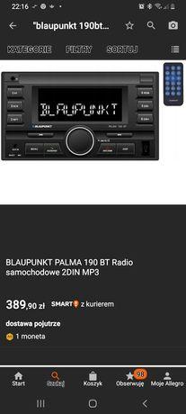 Radio 2din blaupunkt 190bt palma