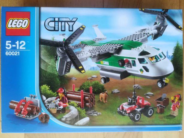 Lego City 60021 - Heli Avião de carga + Moto4 + Lenhadores