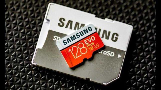 Карта Памяти MicroSD Samsung EVO Plus 128GB + Адаптер.