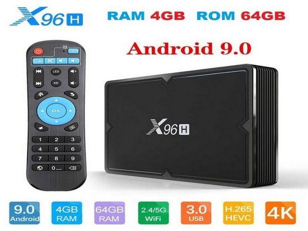 X96H 4GB 64GB Андроид 9 Allwinner H603 Смарт ТВ приставка 2020 года