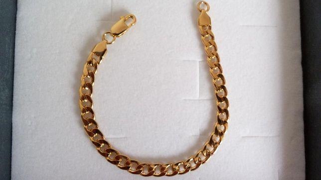 złota bransoletka,pozłacana bransoletka,srebrna bransoletka.NOWA,316L