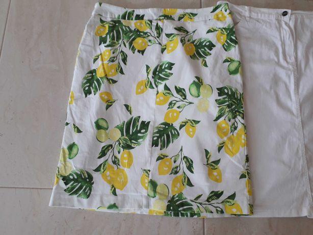 Letnia spódnica spódniczka w cytryny 44 Bon Prix