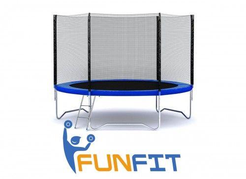 Батут FunFit 252 см ПОЛЬЩА c сеткой+лесница. Гарантия.