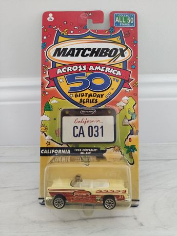 Matchbox 50th Birthday Across America California Chevrolet Bel Air