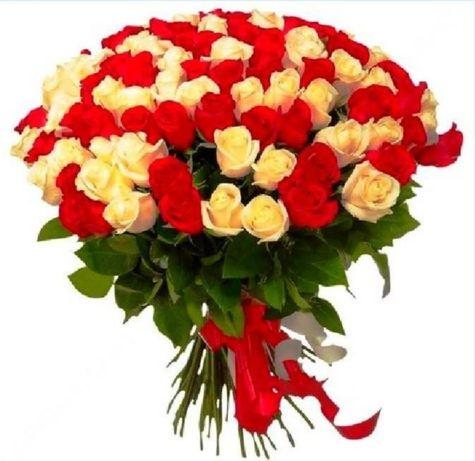 Доставка цветов 25 роз, букеты цветы