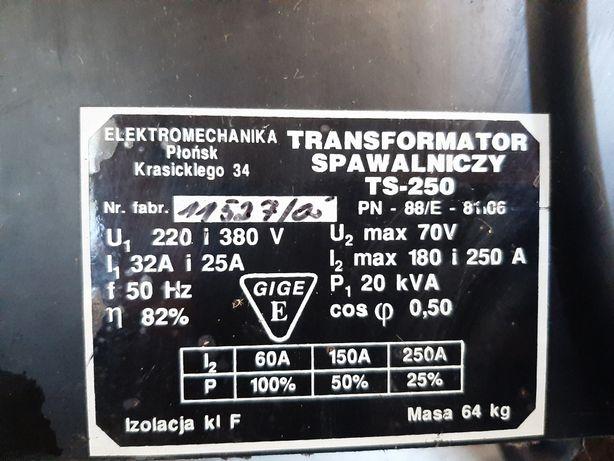 Transformator spawalniczy / spawarka ts 250