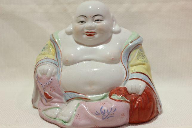 Buda Sorridente Porcelana Chinesa Família Rosa Marcado XX 13 A