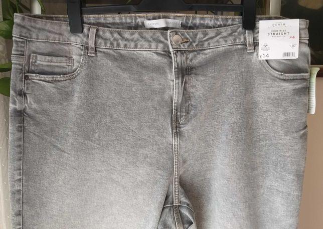 George nowe klasyczne spodnie dżinsowe PLUS SIZE r.24(52)