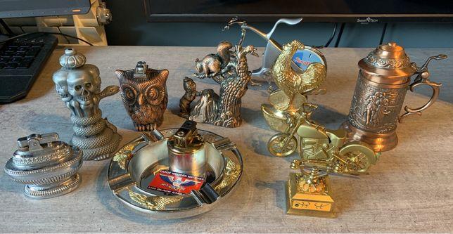 10 isqueiros metal de coleção/decoração