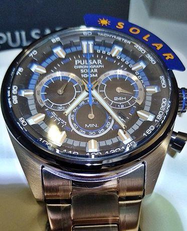 ]часы с хронографом на солнечных батареях SEIKO PULSAR WRC