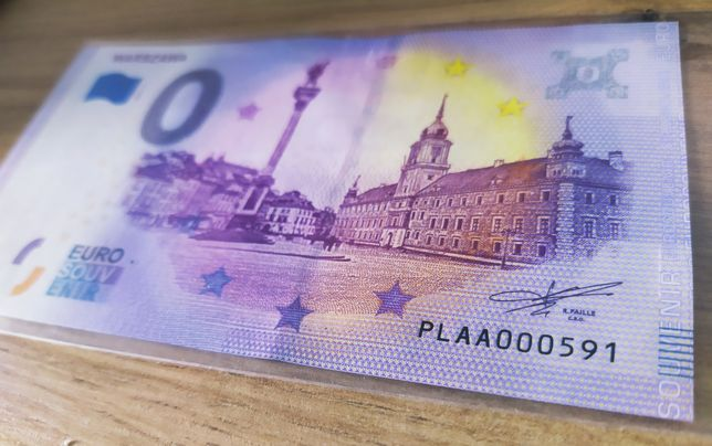 Banknot Warszawa EURO zero 000591 Unikat