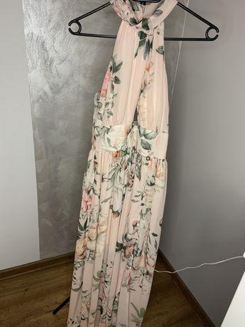 Sukienka S maxi w kwiaty