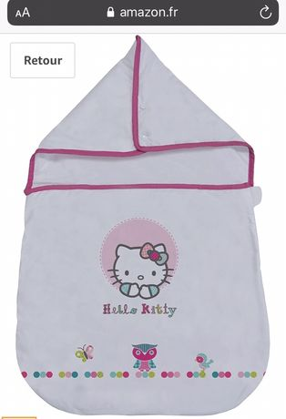 Ninho de Anjo e babetes Hello Kitty