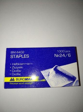 Скобы для степлера №24/6 100 шт.