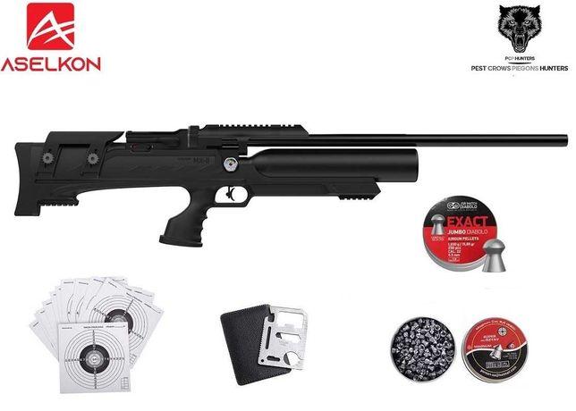 129 12 Wiatrówka Aselkon MX8 kal.5.5mm BLACK!